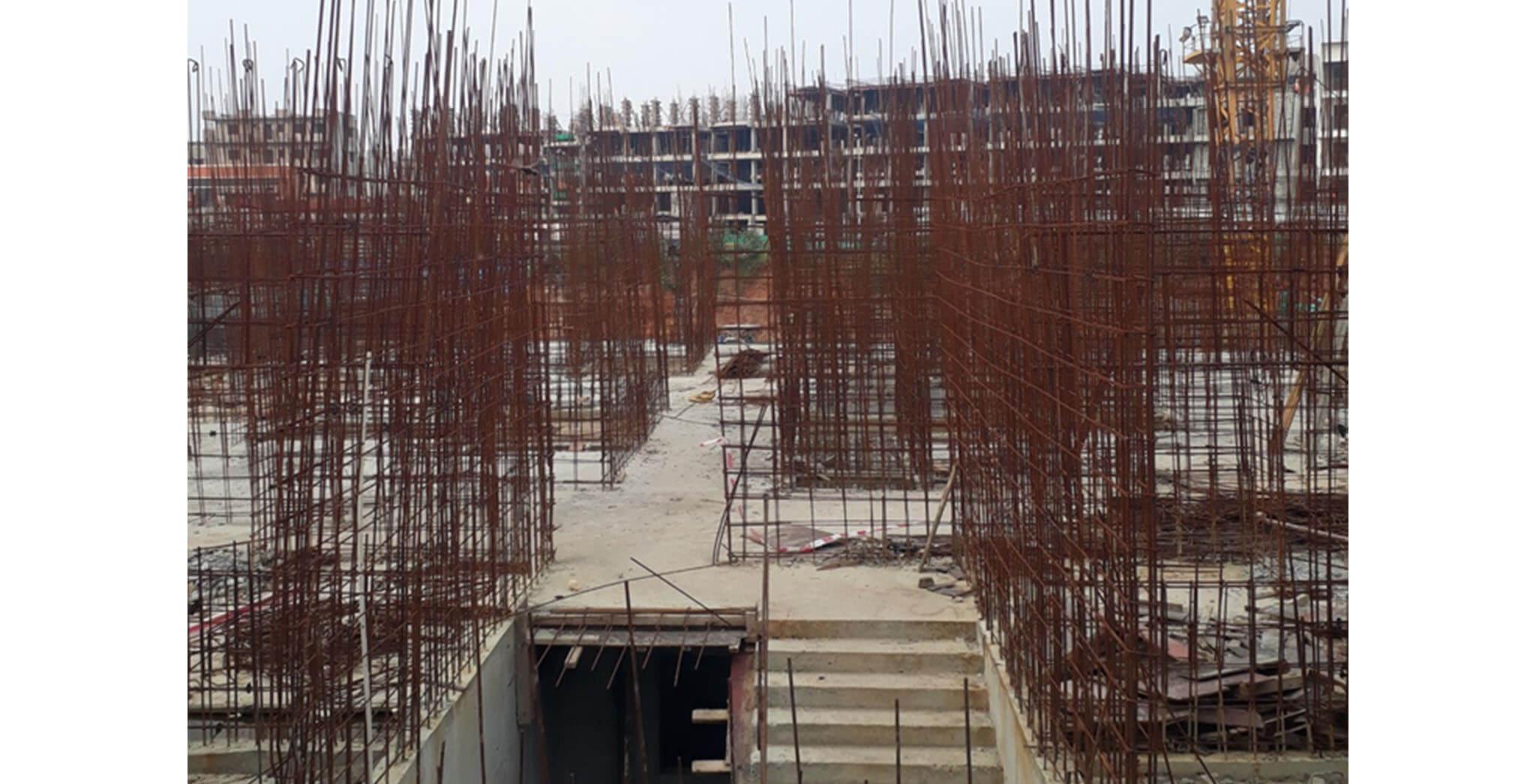 Oct 2020 - D Block: Ground floor slab completed