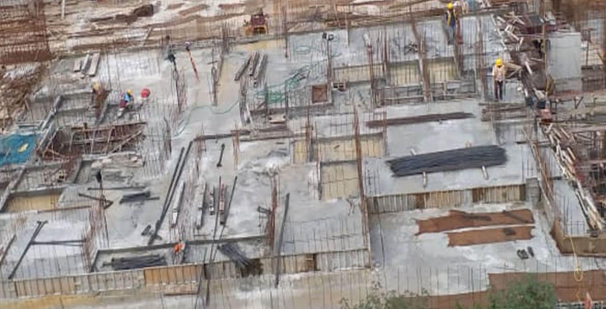 Oct 2020 - I Block: Ground floor slab completed