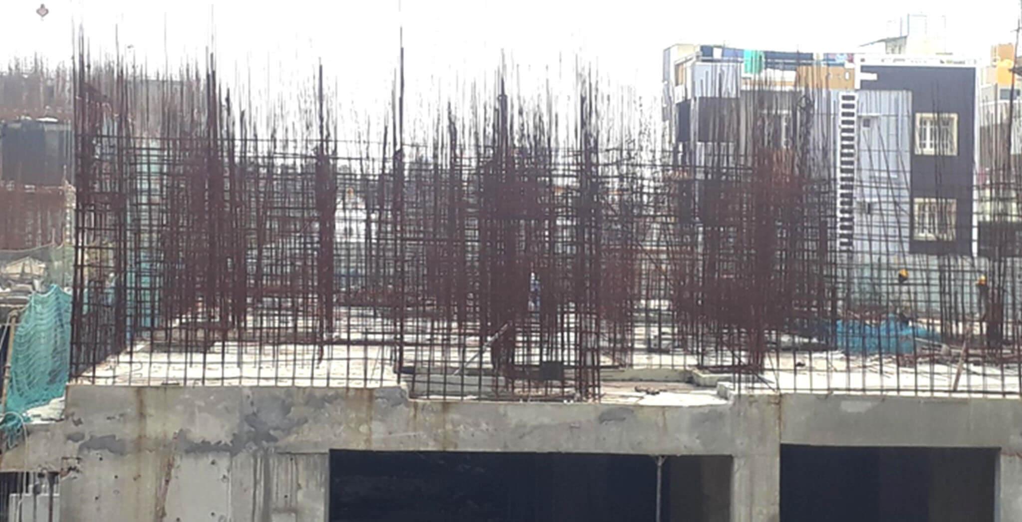 Oct 2020 - B Block: First floor slab work-in-progress
