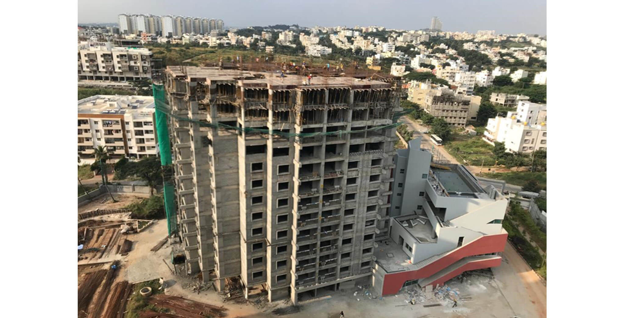 Oct 2020 - Tower A: 12th floor slab completed
