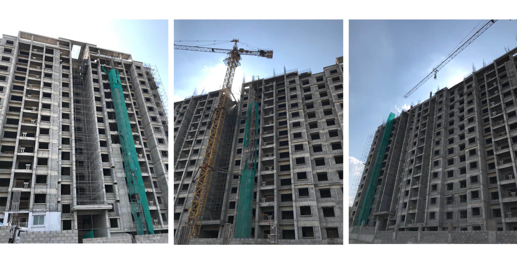 Oct 2020 - Towers E, F & G: Structure completed. External & internal finishing work-in-progress