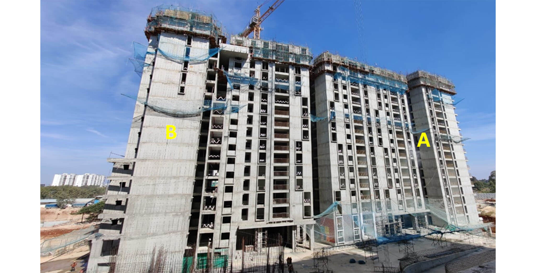 Dec 2020 - Serene: Tower A—18th floor slab structure work-in-progress; Tower B—17th floor slab structure work-in-progress