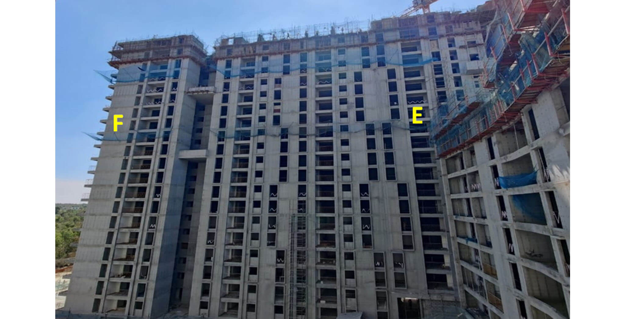 Dec 2020 - Serene: Tower E—20th floor slab structure work-in-progress; Tower F—20th floor slab structure work-in-progress