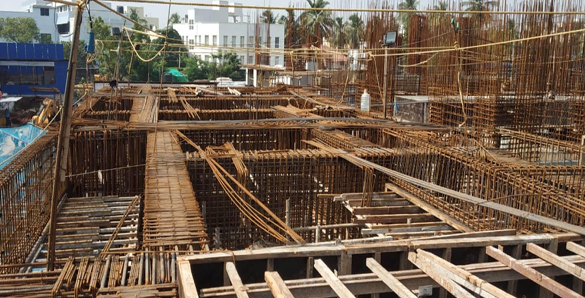 Dec 2020 - Tower A1: First floor level slab reinforcement work-in-progress