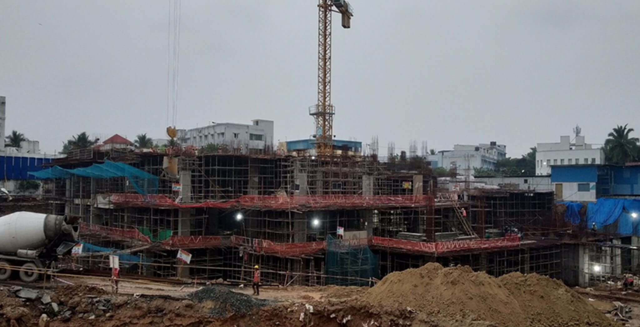 Dec 2020 - Tower A1: First floor level slab work-in-progress