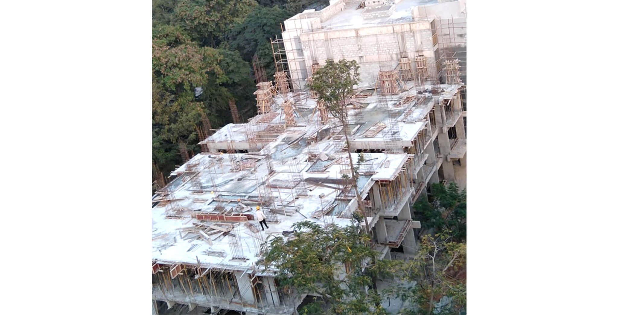 Dec 2020 - D Block: 3rd floor slab concreting work completed.