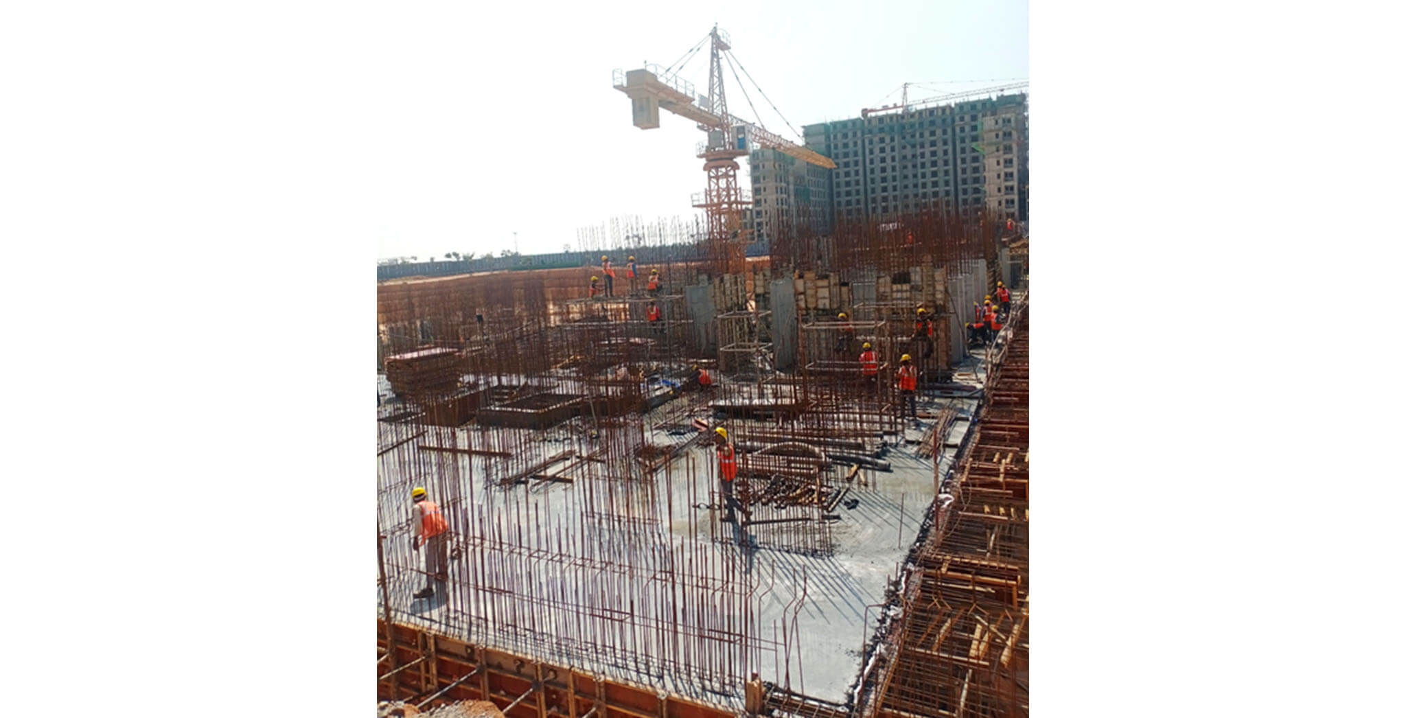 Wing A—Lower basement slab casted - Status Images 2