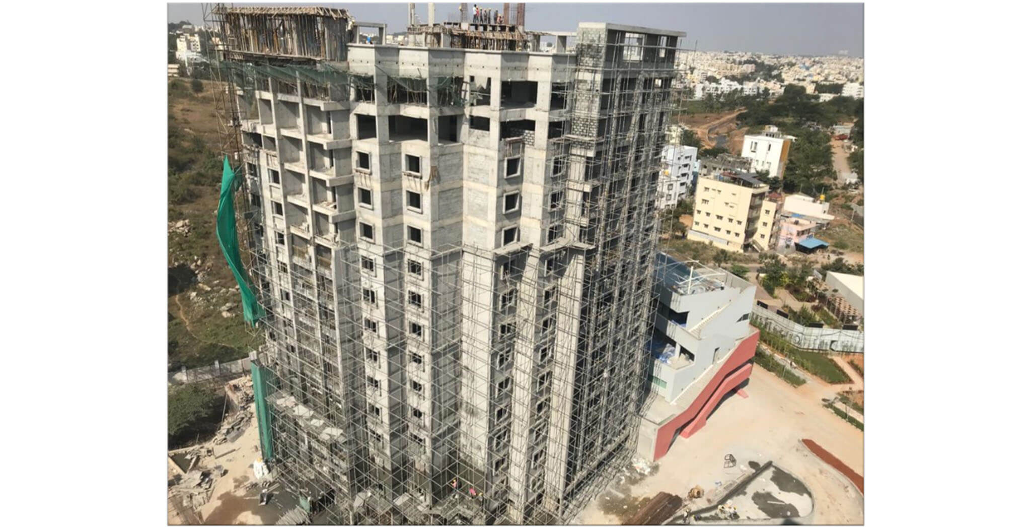 Jan 2021 - Tower A: Above terrace structure work-in-progress