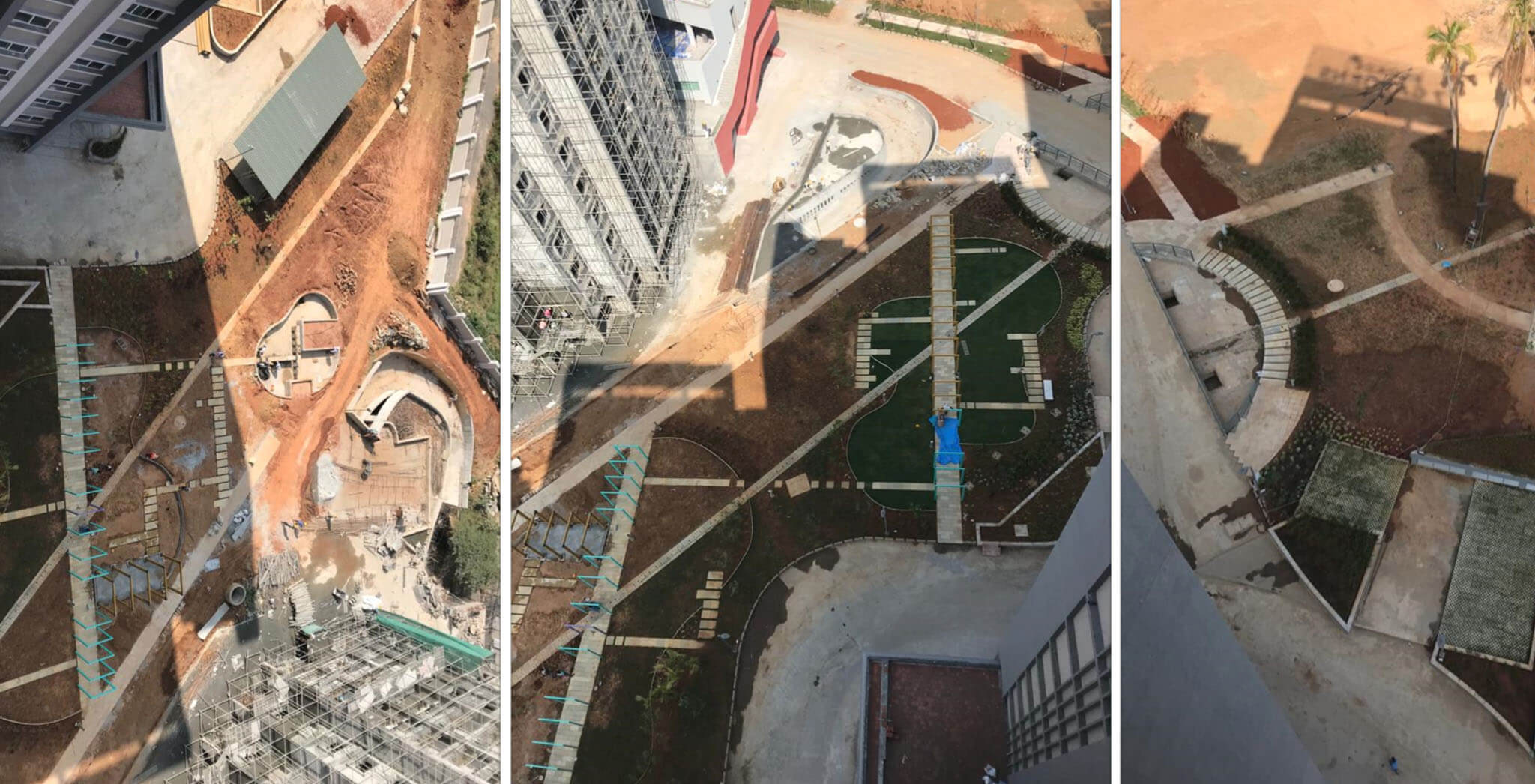 Jan 2021 - Landscaping between A, B, C, and D towers in progress