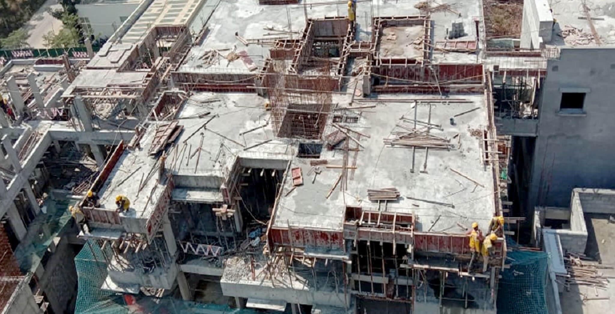Feb 2021 - Casting of D Block Terrace slab milestone, 24th February 2021