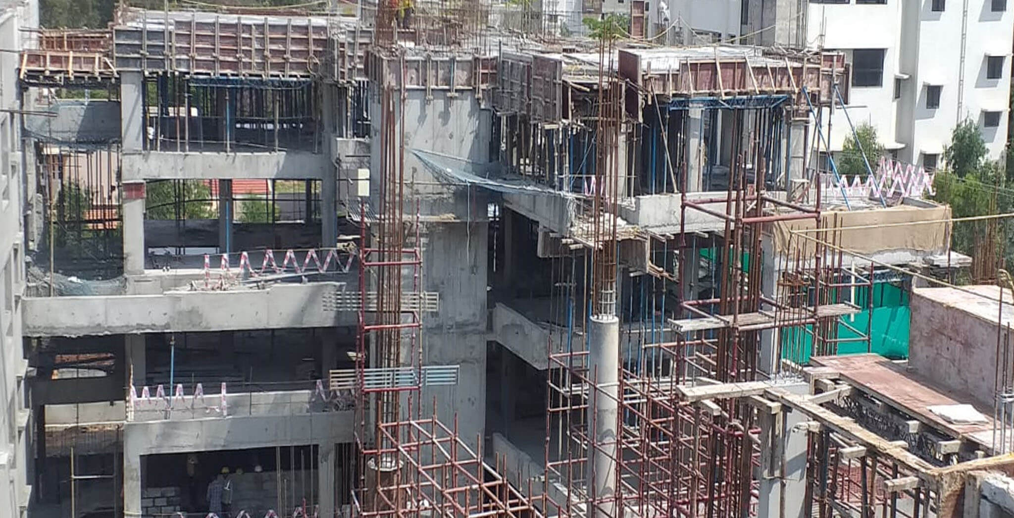 Feb 2021 - On Casting of Block B Terrace floor slab as on 27th February 2021