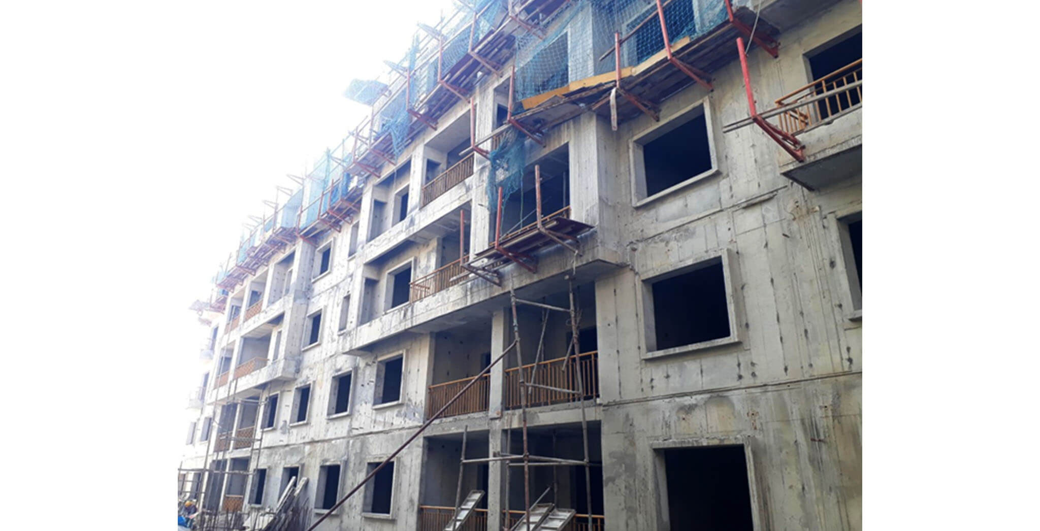 Feb 2021 - G Block: Above terrace work completed