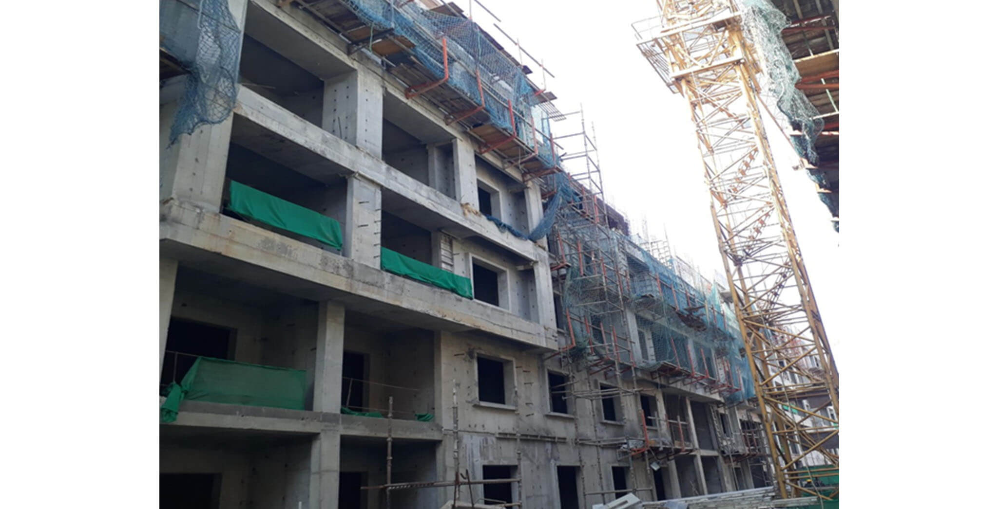 Feb 2021 - F Block: Terrace floor slab work-in-progress