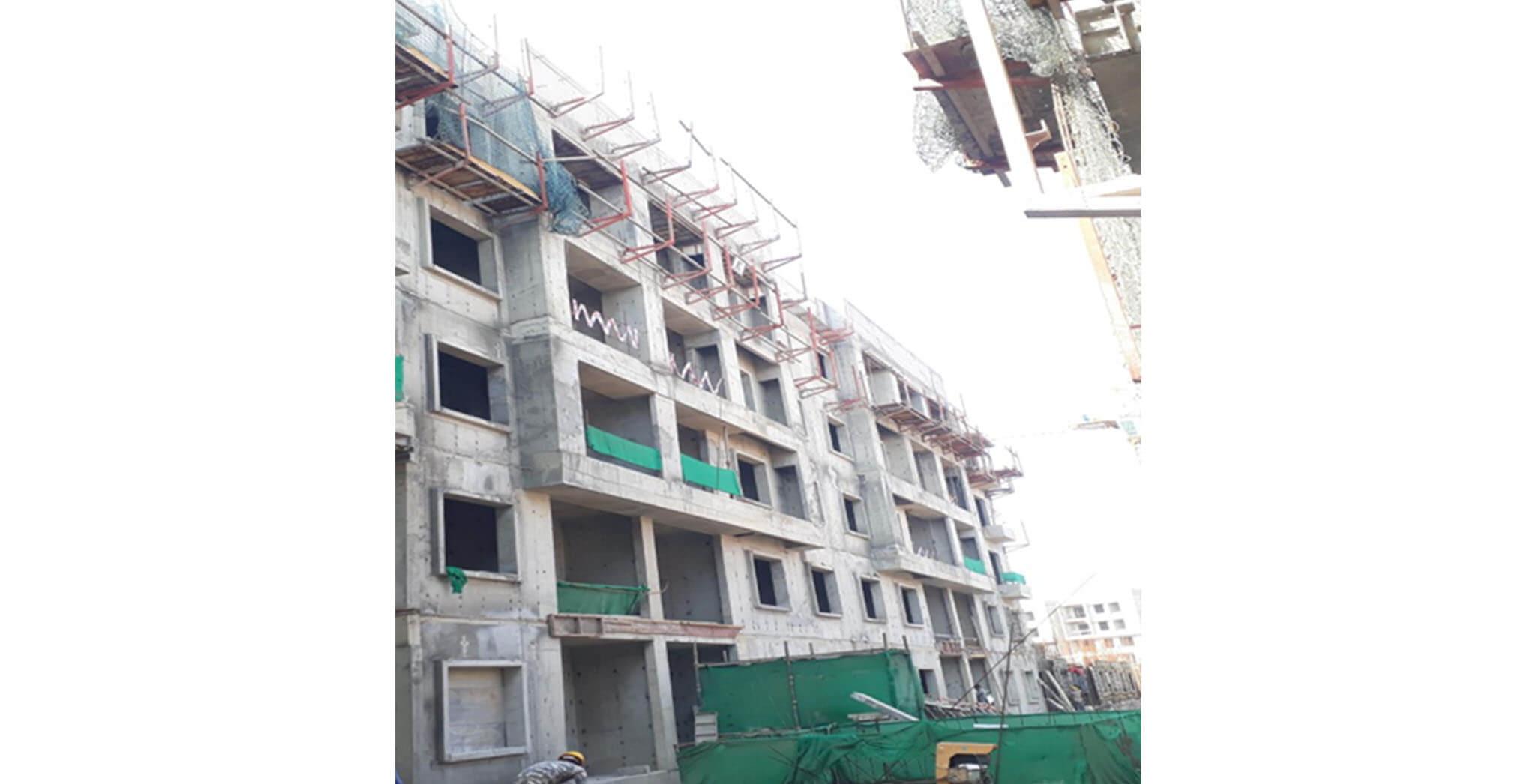 Feb 2021 - E Block: Above terrace work-in-progress