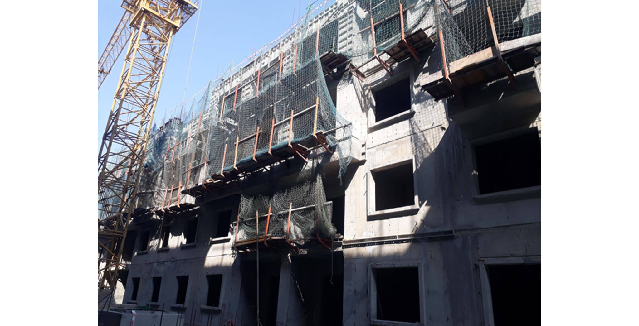 Feb 2021 - K Block: Fourth floor slab completed