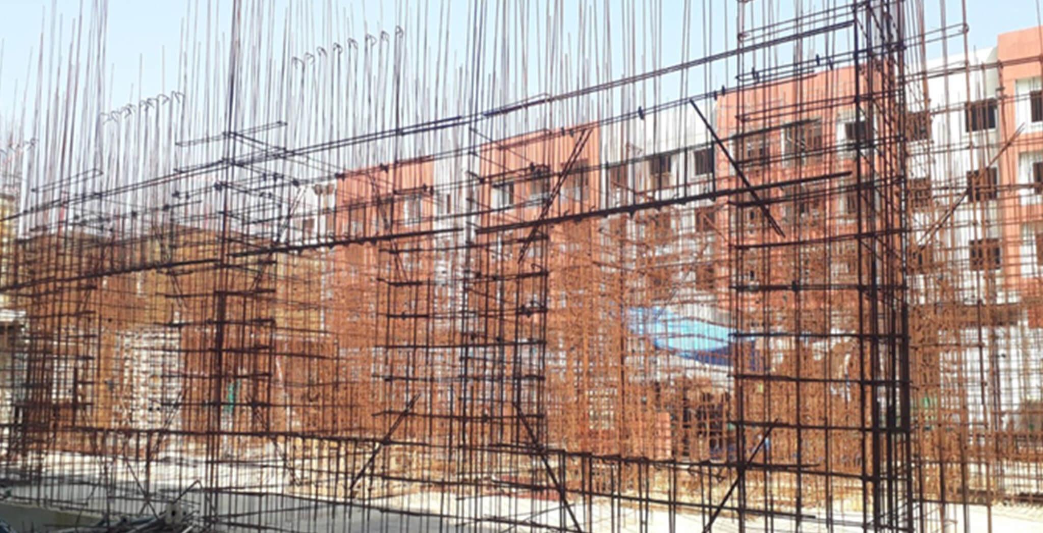 Feb 2021 - J Block: First floor slab work-in-progress