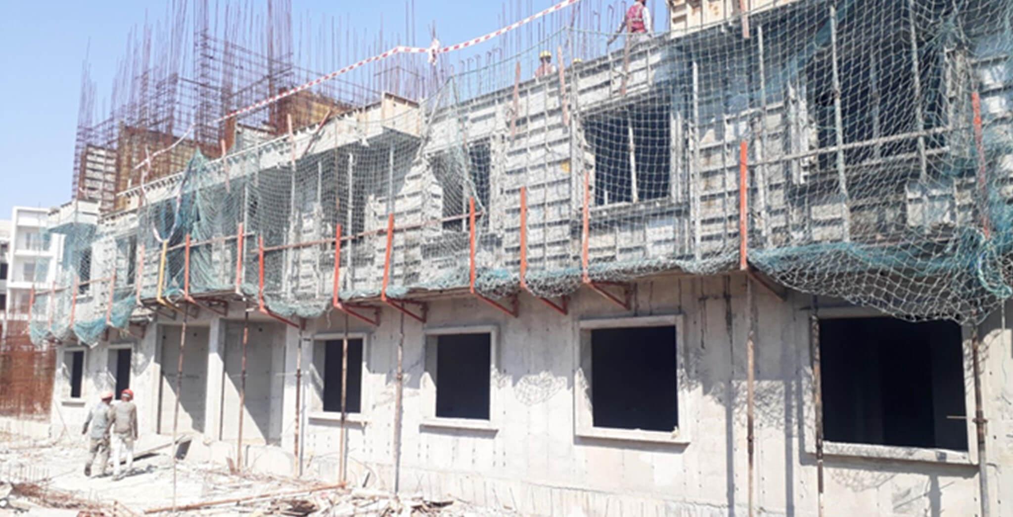 Feb 2021 - I Block: Third floor slab work-in-progress