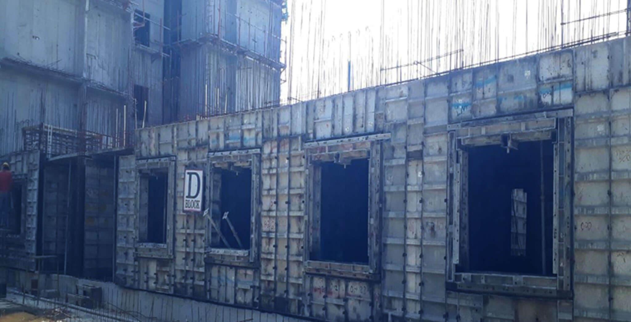 Feb 2021 - D Block: First floor slab work-in-progress