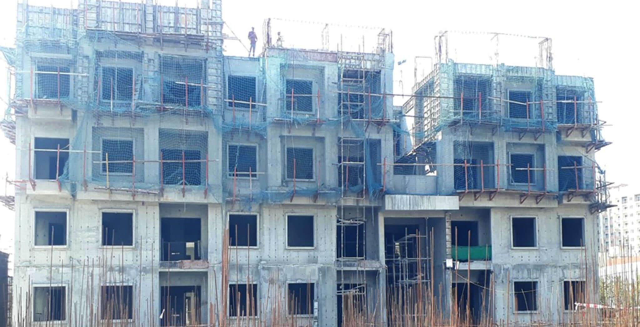 Feb 2021 - B Block: terrace floor slab completed