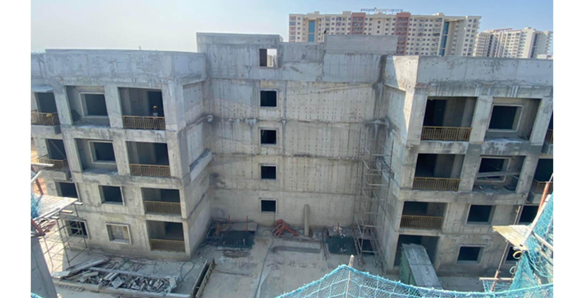 Feb 2021 - A Block: Above terrace works completed
