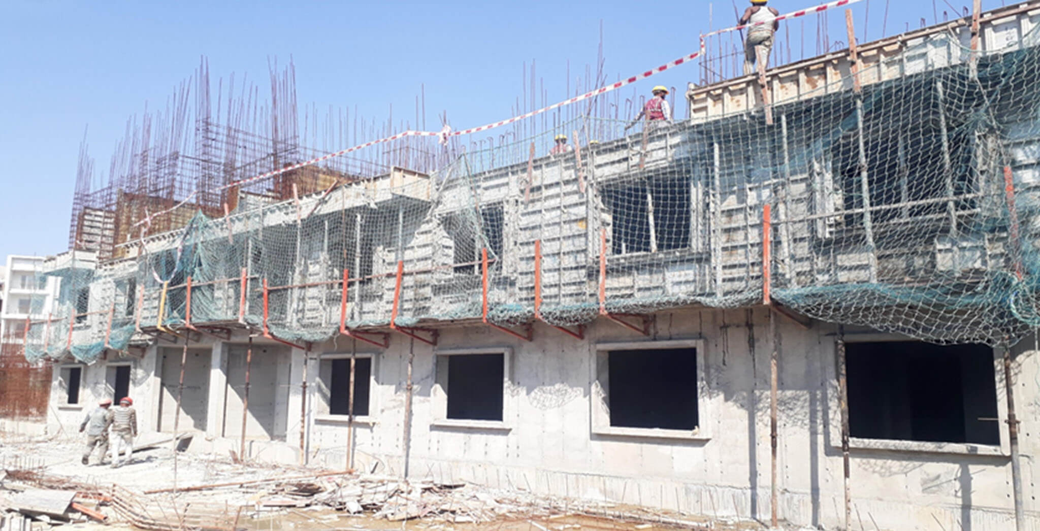Mar 2021 - I Block: On casting of second floor slab, 1st March 2021