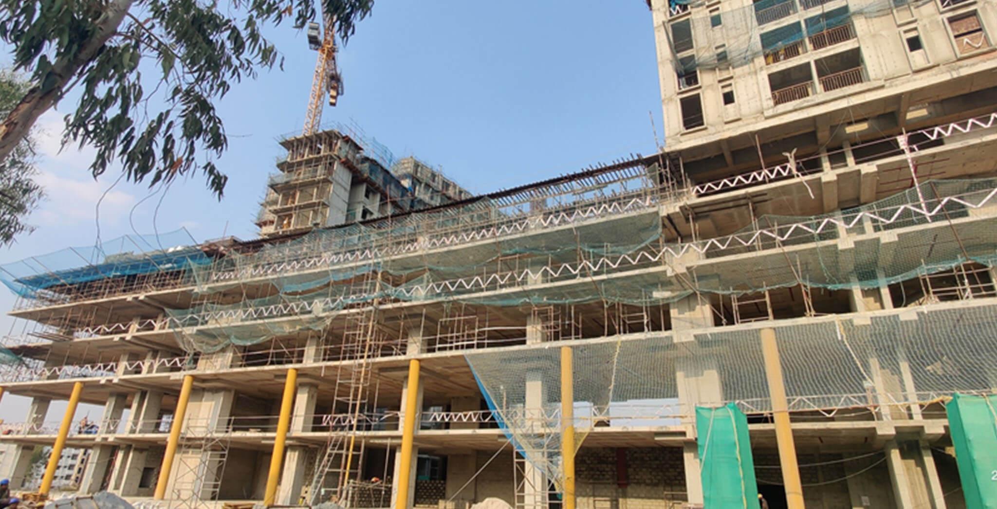 Feb 2021 - Eden: Tower B—Part of 5th floor structure work-in-progress