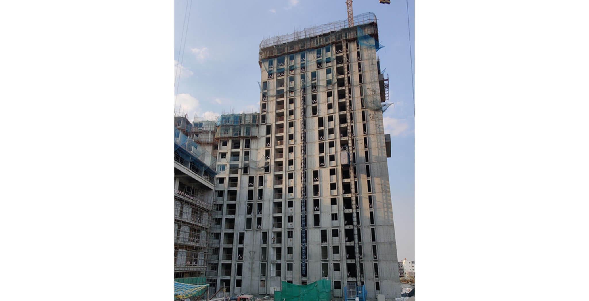 Feb 2021 - Eden: Tower C—Part of 13th & 20th floor structure work-in-progress