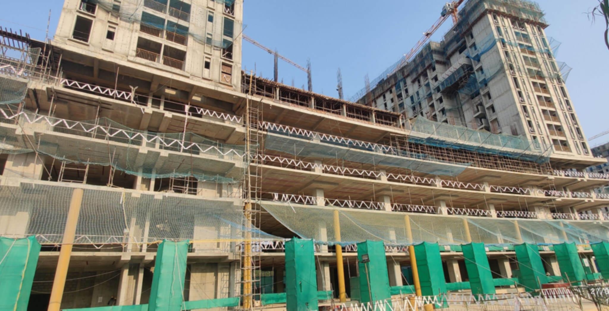 Feb 2021 - Eden: Tower D—Part of 6th floor structure work-in-progress