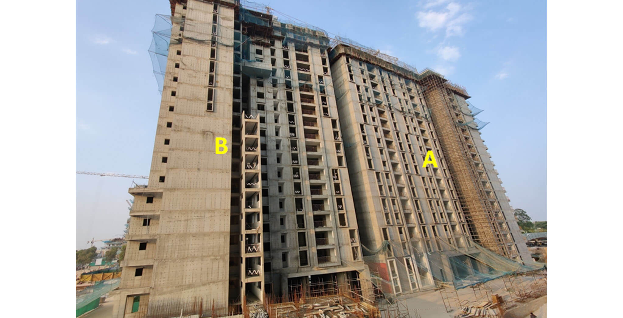 Feb 2021 - Serene: Tower A—21st floor slab structure work-in-progress; Tower B—21st floor slab structure work-in-progress