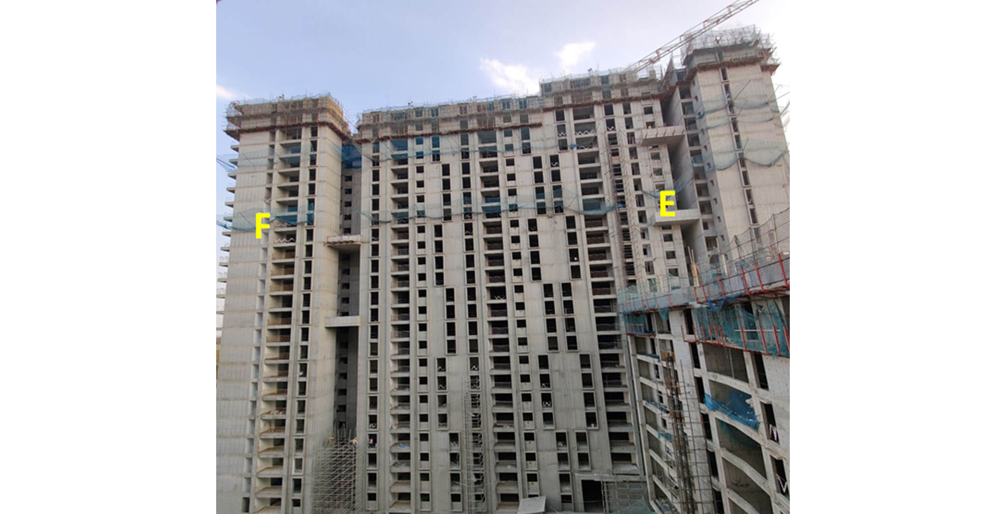 Feb 2021 - Serene: Tower E—25th floor slab structure work-in-progress; Tower F—25th floor slab structure work-in-progress