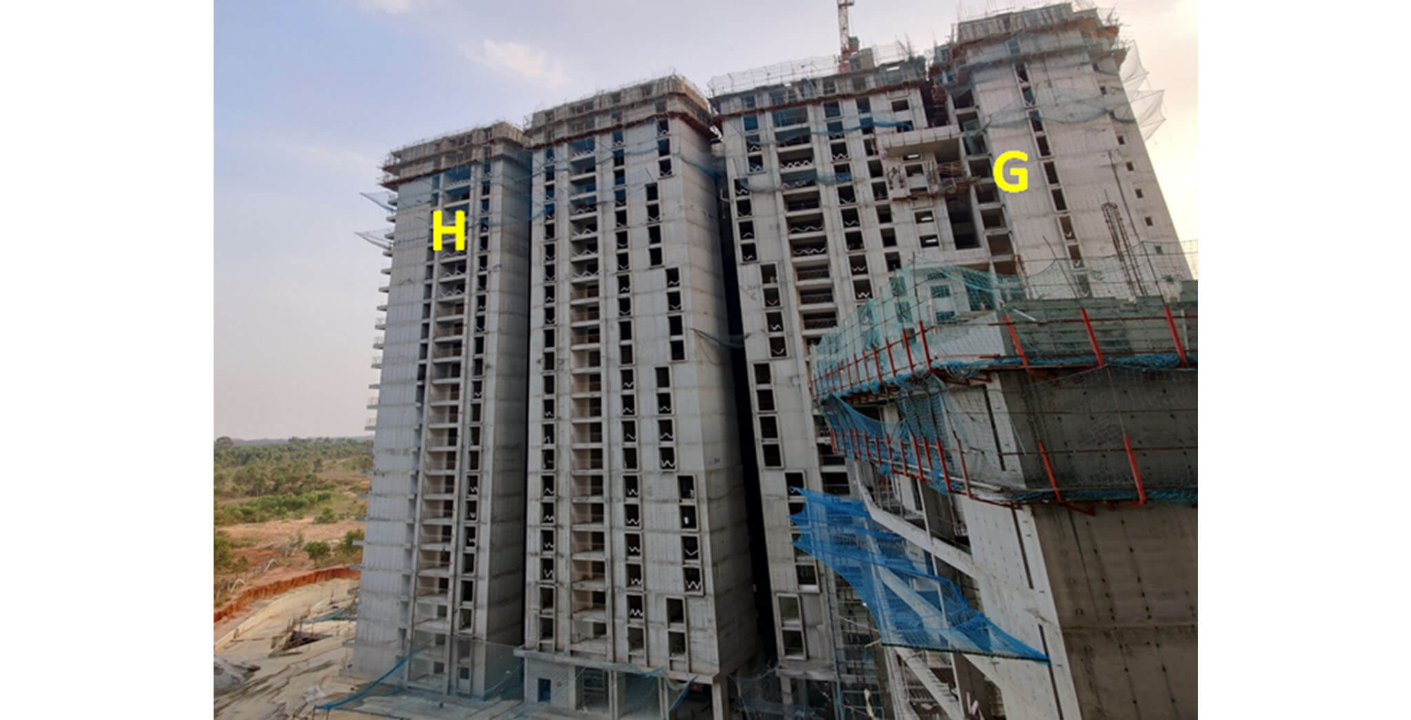 Feb 2021 - Serene: Tower G and H—25th floor slab structure work-in-progress