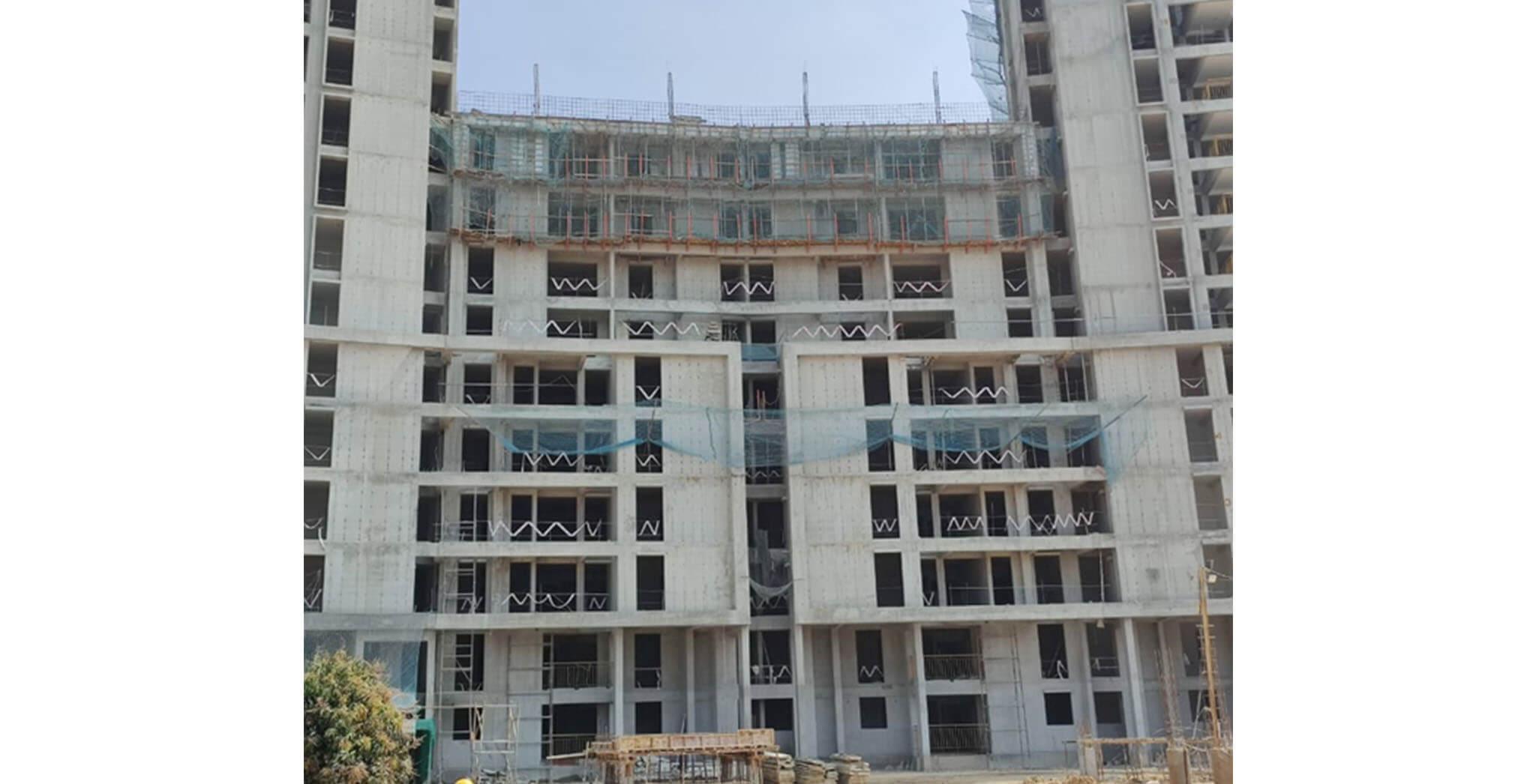 Feb 2021 - Serene: Terrace floor slab completed