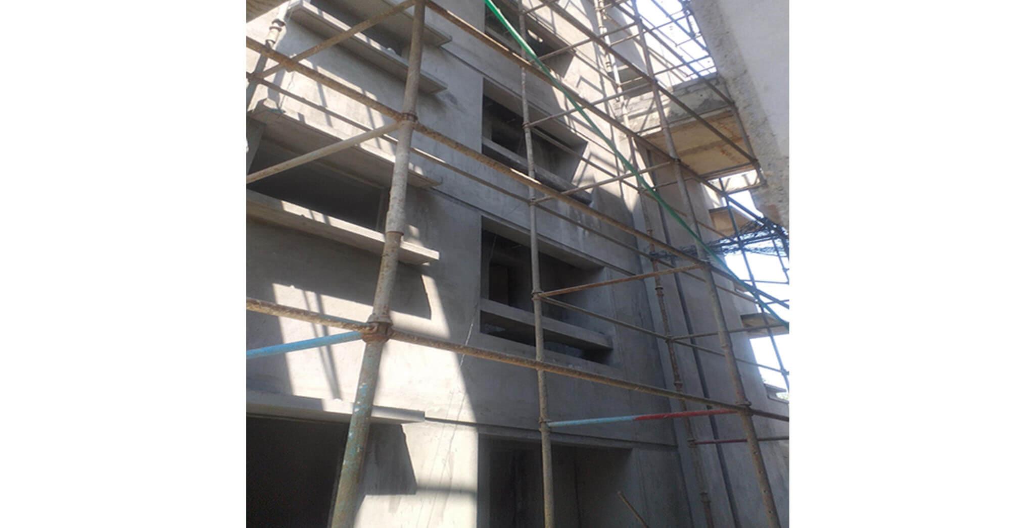 Feb 2021 - Towards East side view: P Block—57 Series flat final coat work completed