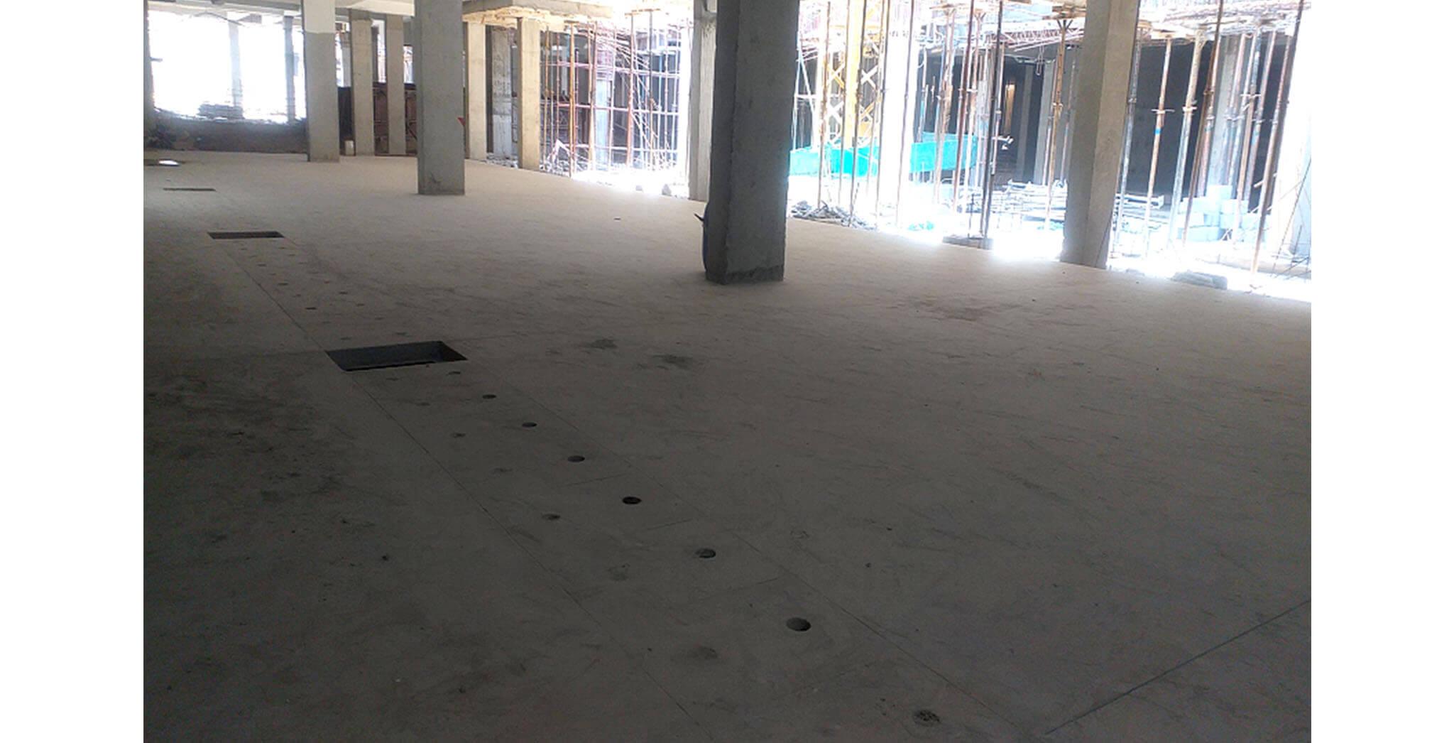 Feb 2021 - Basement level: Basement Flooring work-in-progress at K, L, M, N & P blocks