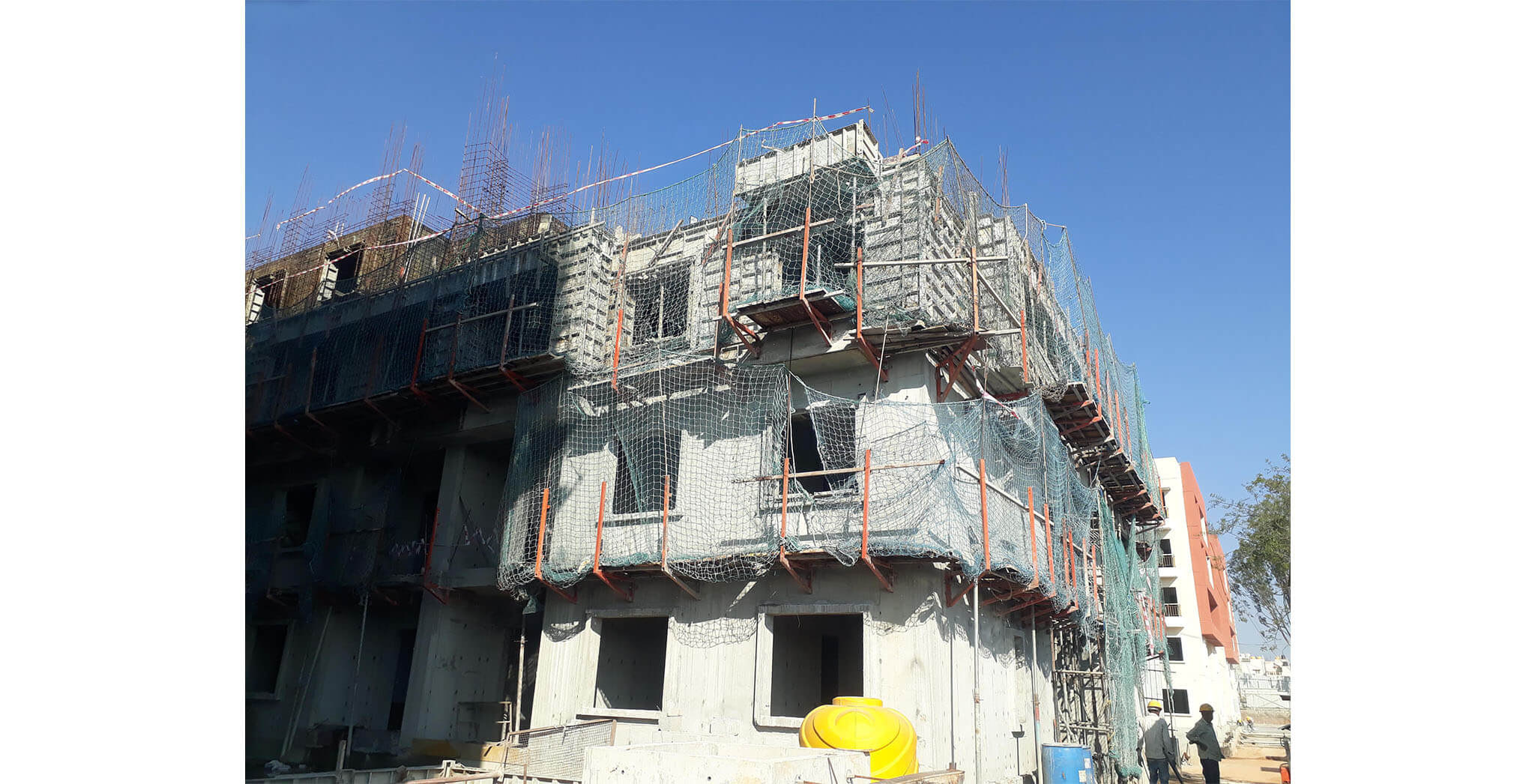 Mar 2021 - L Block: Third floor slab completed on 4th March 2021