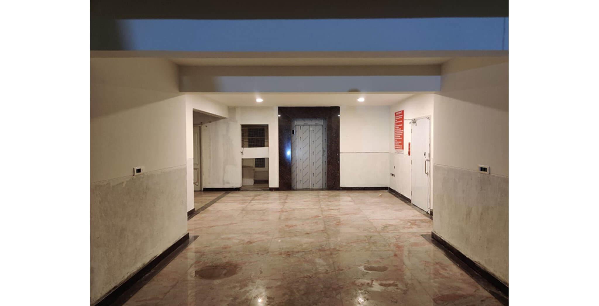 Feb 2021 - GF lobby area flooring work is completed