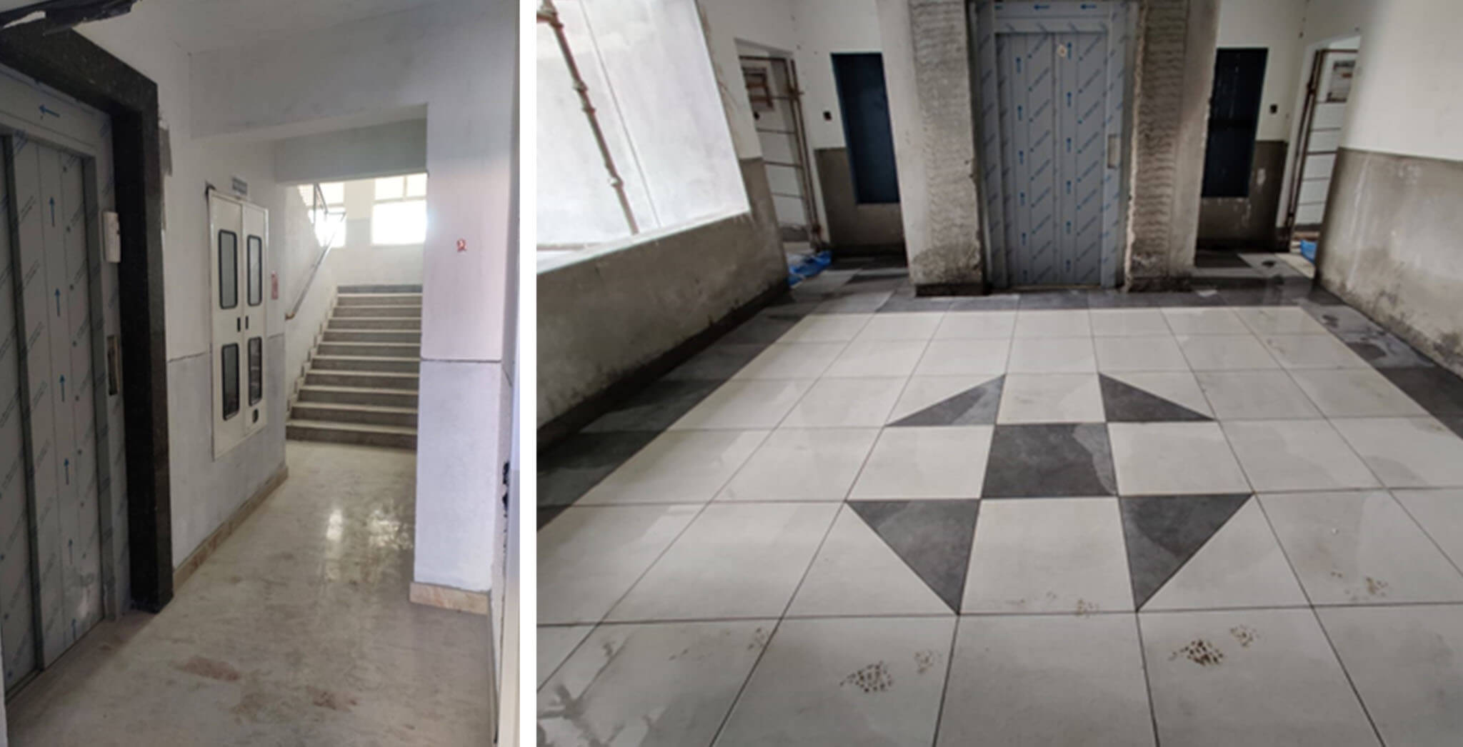 Feb 2021 - Lift lobby & staircase & common area: Work completed till 6th floor