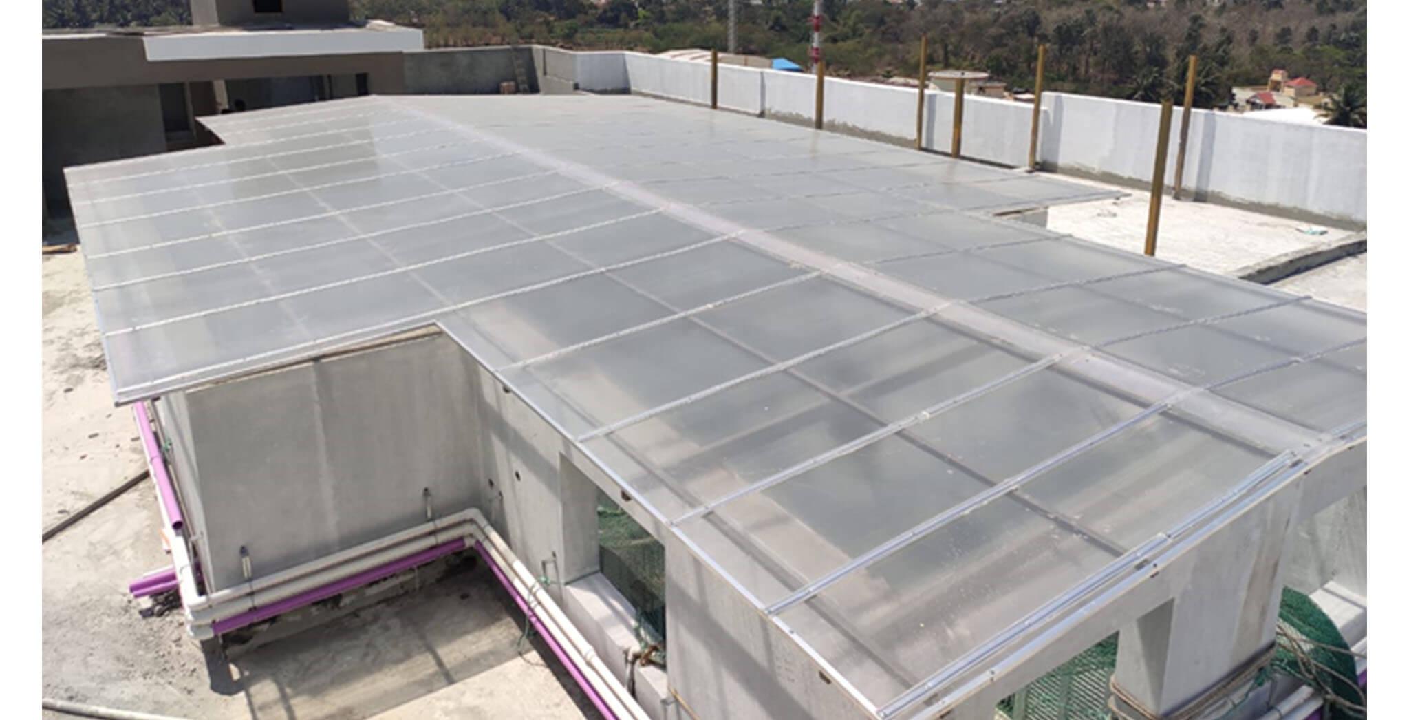 Feb 2021 - Terrace: MS works & skylight in progress