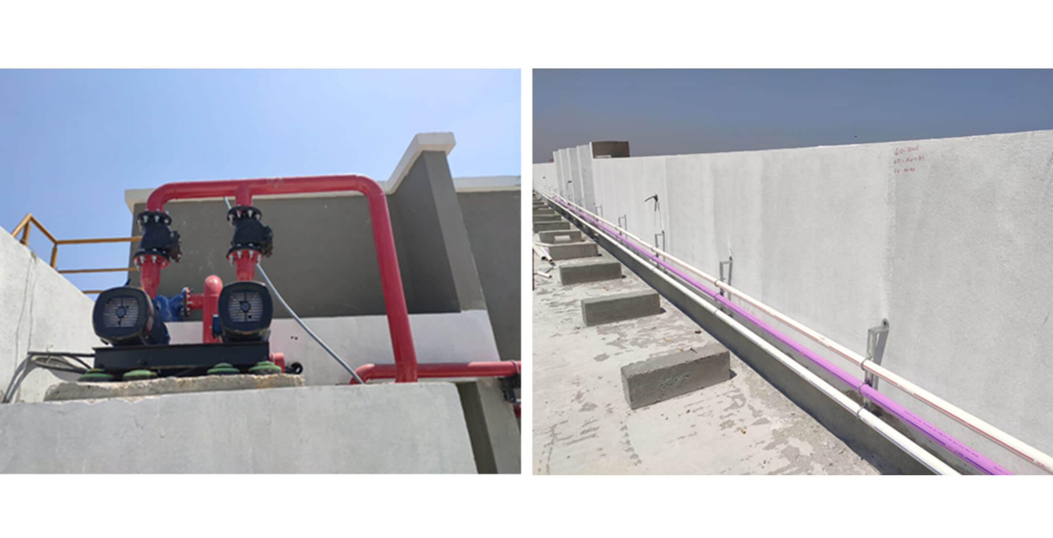 Feb 2021 - Terrace booster pump & ring main line work-in-progress