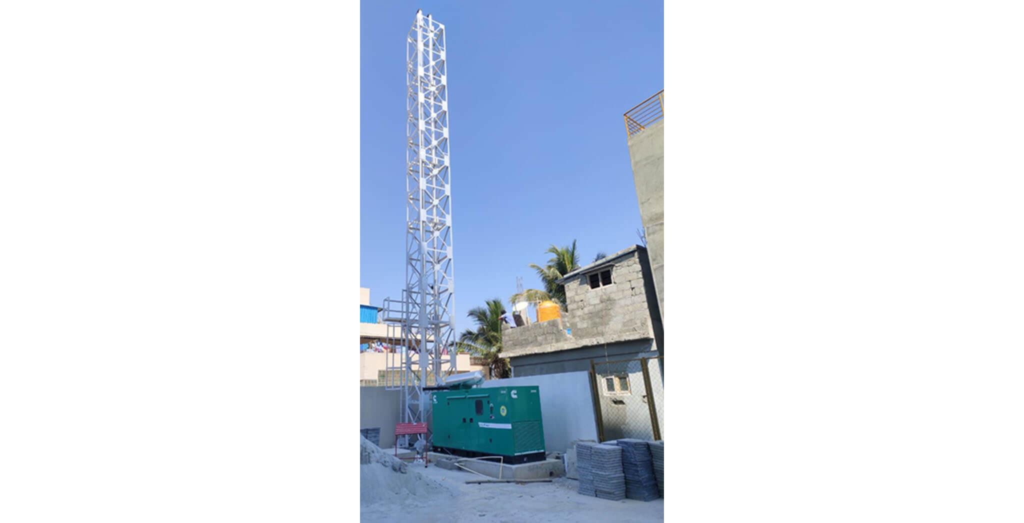 Feb 2021 - DG stack: Erection completed