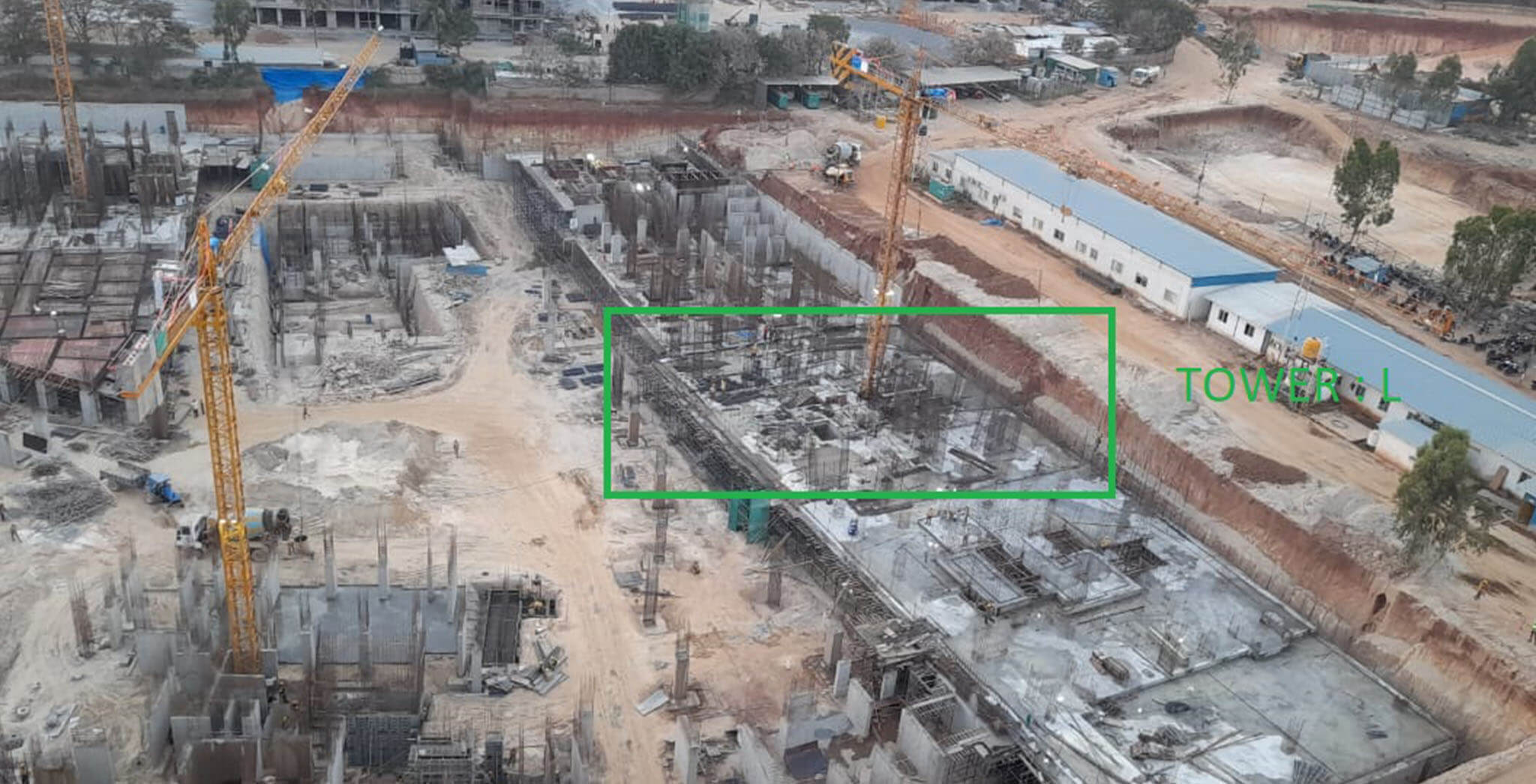 Mar 2021 - Tranquil: Tower L—On casting of upper basement slab, 12th March 2021