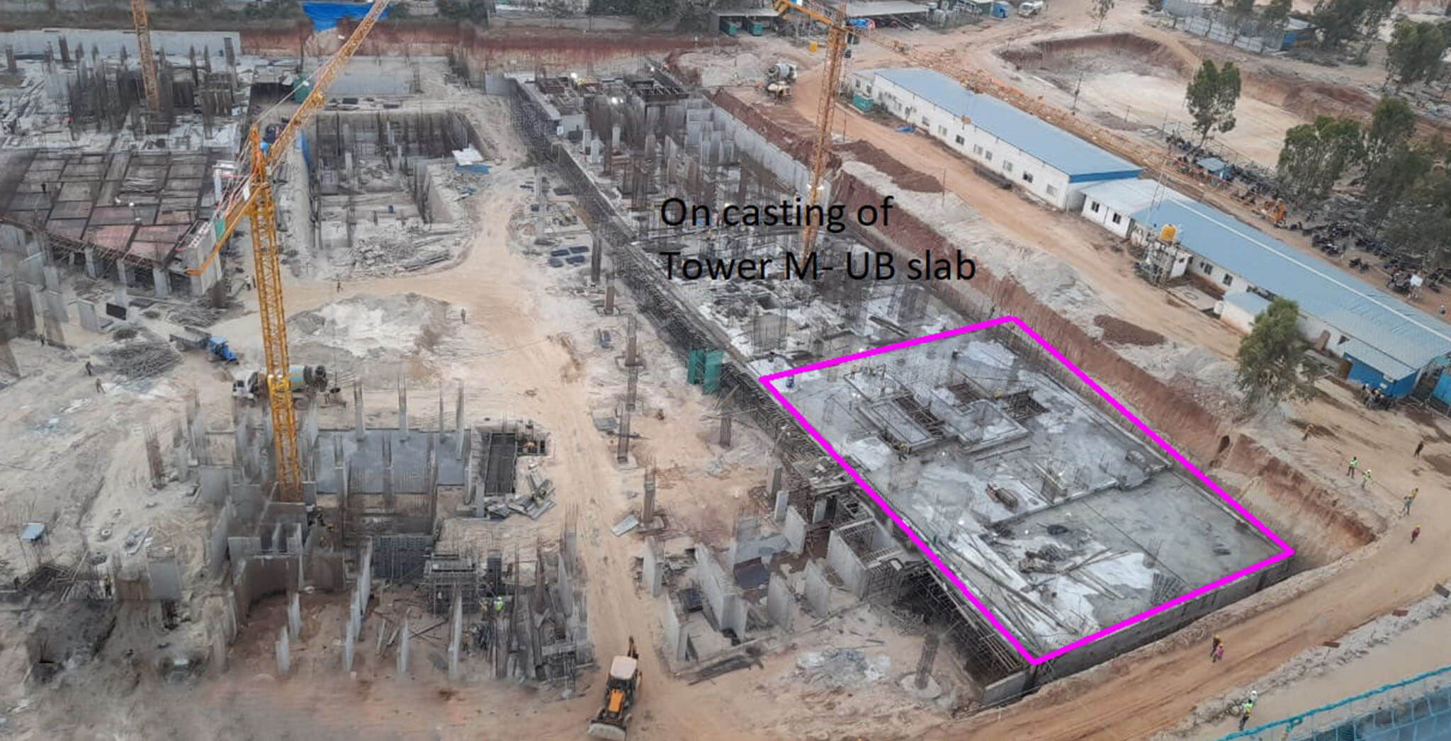Mar 2021 - Tranquil: Tower M—On casting of upper basement slab, 12th March 2021