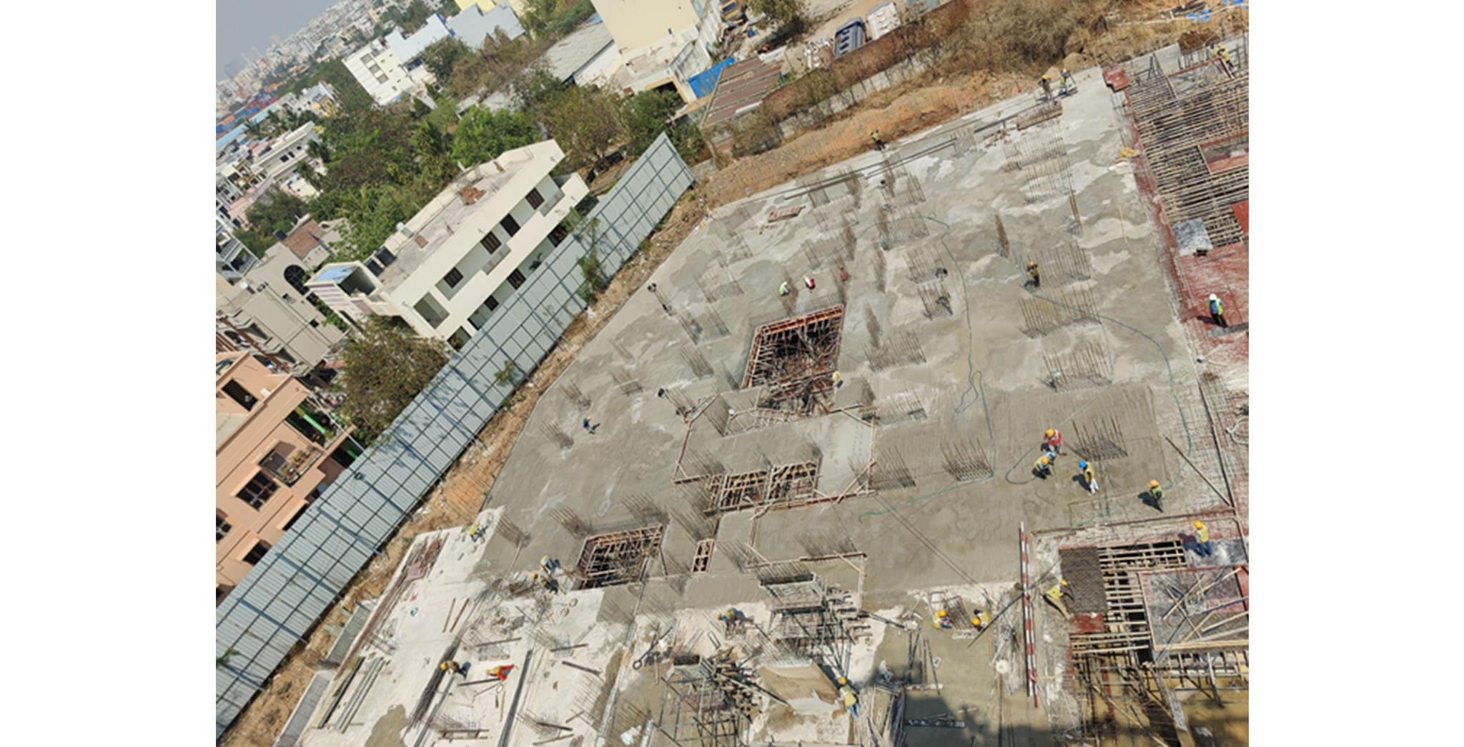 Mar 2021 - Tower A1: Lower basement floor slab completed (Milestone–1)