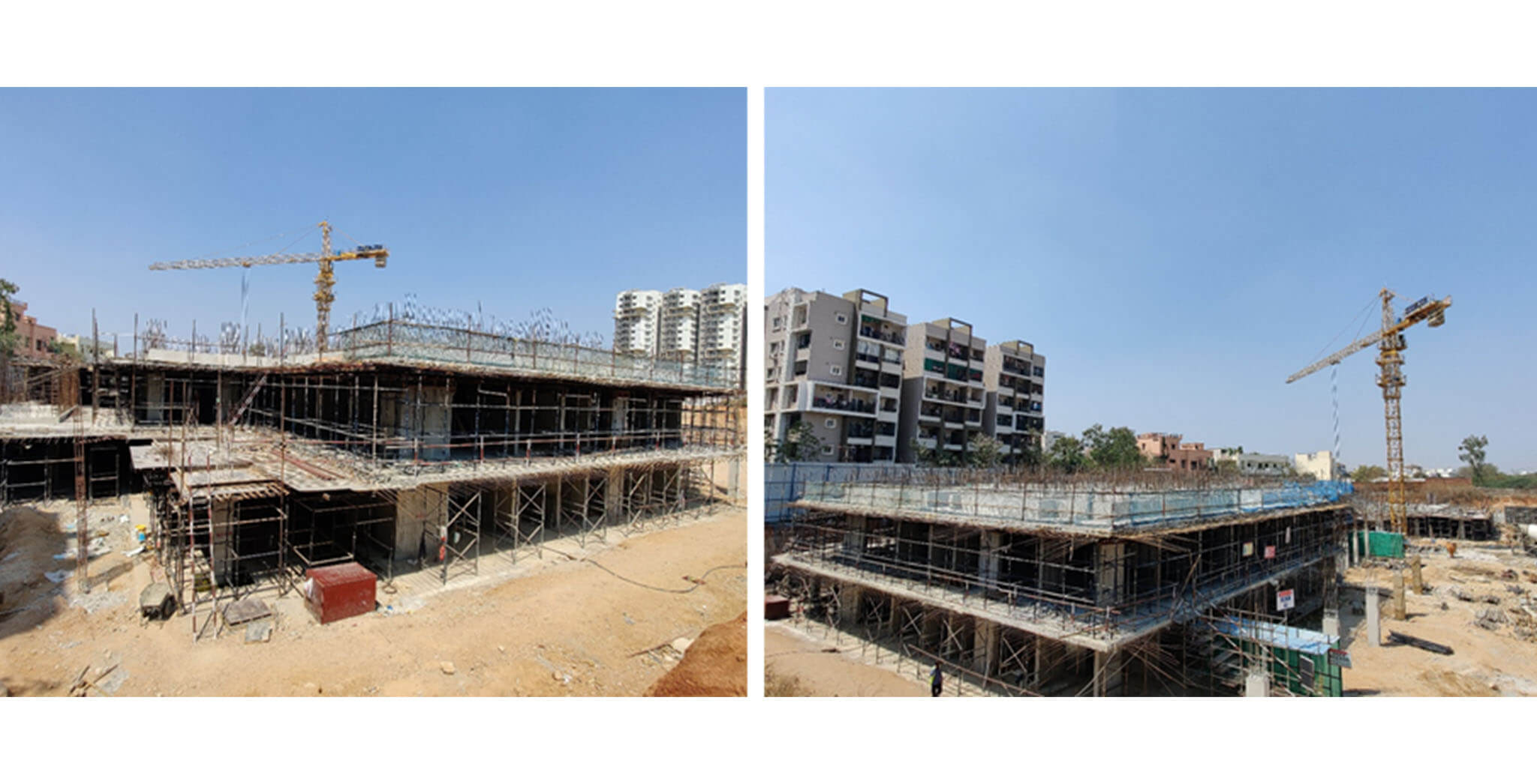 Mar 2021 - Tower A1: Ground floor slab 50% completed