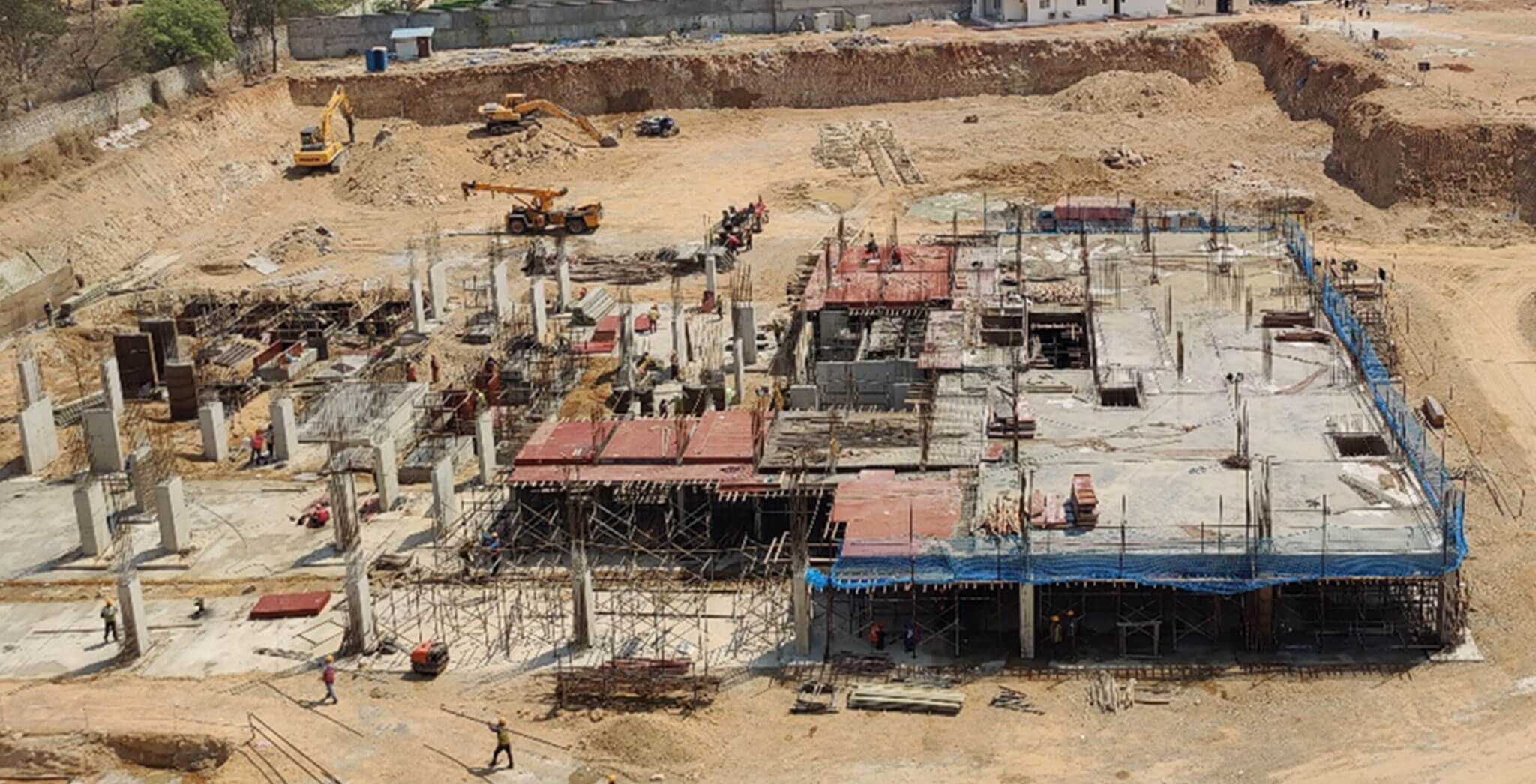 Mar 2021 - Tower B: Lower basement floor slab work-in-progress