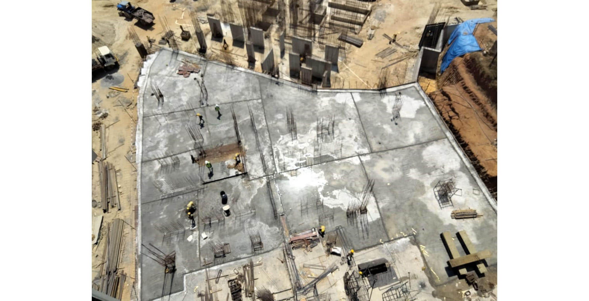 Mar 2021 - Tranquil: Tower Q—On Casting of Upper basement floor slab, 15th March 2021