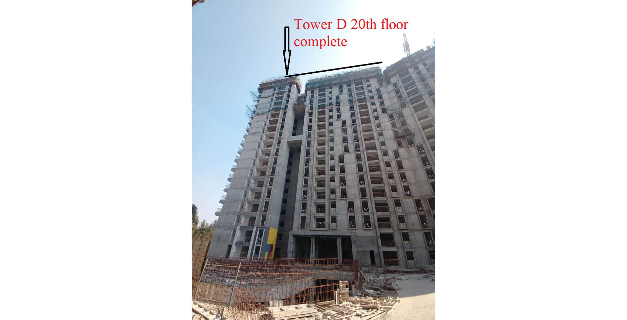 Mar 2021 - Serene: Tower/Wing D—On casting of 20th floor slab, 17th March 2021