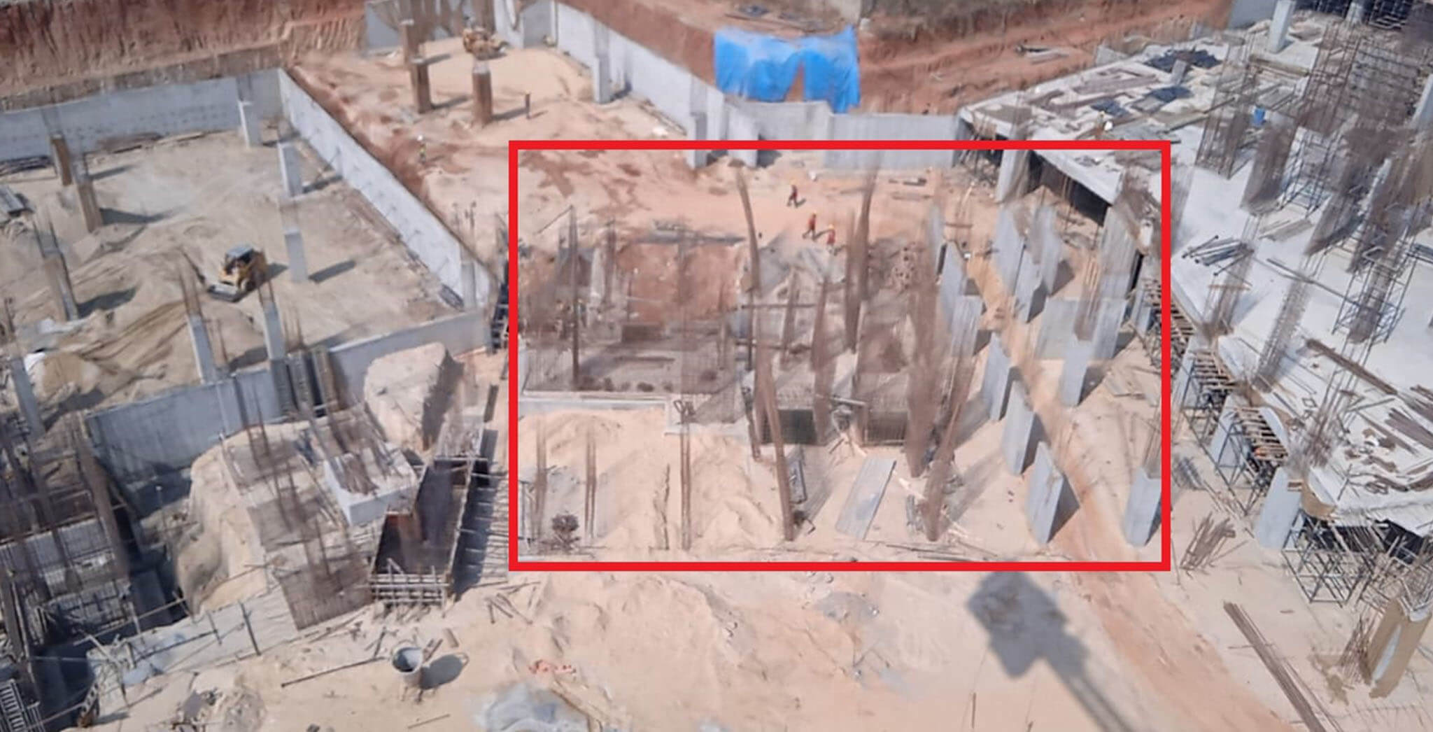 Mar 2021 - Tranquil: Tower P—on casting of footings, 31st March 2021