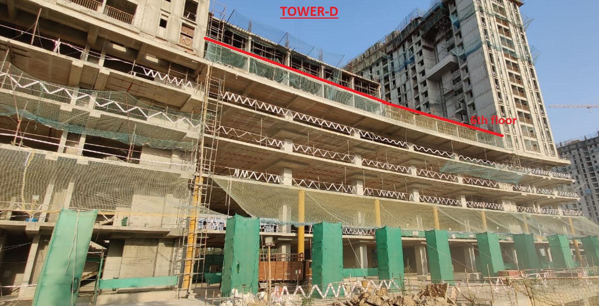 Apr 2021 - Eden: Tower D—On completion of sixth floor slab milestone, 3rd April 2021
