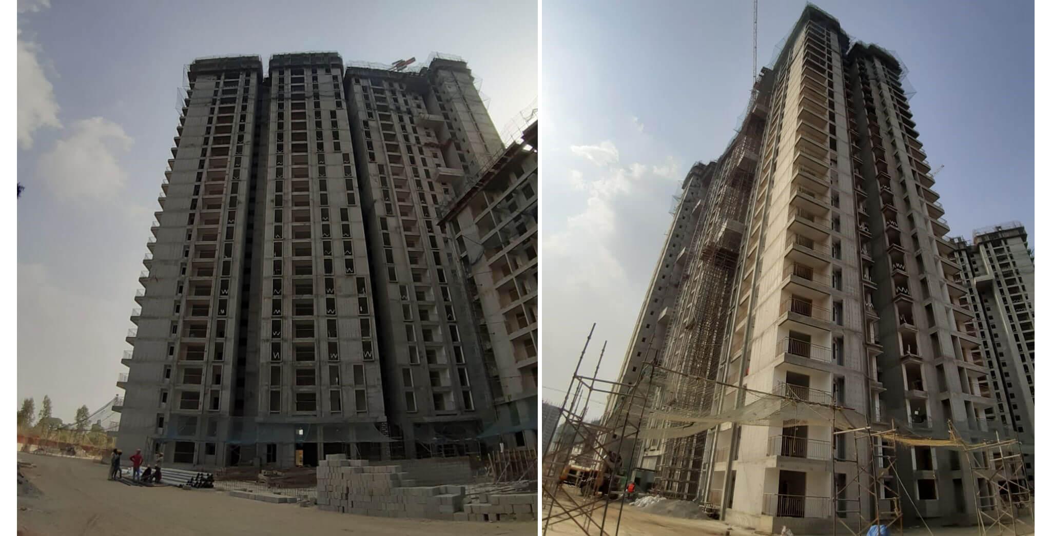 Mar 2021 - Serene: Tower H—On casting of terrace floor slab, 31st March 2021